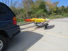 0  trailers malone roof rack on wheels v-style ecolight sport trailer with carriers for 2 kayaks - 400 lbs