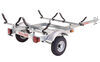 malone trailers roof rack on wheels extra long tongue ecolight sport trailer with v-style carriers for 2 kayaks - 400 lbs