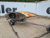 0  trailers malone roof rack on wheels post style lowmax xtralight trailer with carriers for 4 kayaks - detachable tongue 600 lbs
