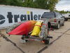 0  trailers malone roof rack on wheels detachable tongue lowmax xtralight trailer with post style carriers for 4 kayaks - 600 lbs