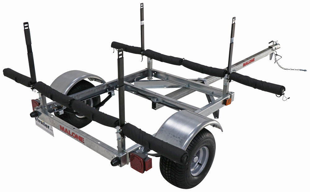 Malone XtraLight LowMax Trailer for 4 Kayaks - Post-Style - 11' Long - 600 lbs Post Style MAL45FR