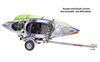 0  trailers malone roof rack on wheels crossbar style manufacturer