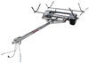 malone trailers roof rack on wheels detachable tongue lowmax trailer with j-style carriers for 2 kayaks - 600 lbs