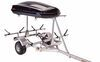 malone trailers roof rack on wheels cargo box included 2 tier lowmax trailer with v-style carriers - detachable tongue 600 lbs