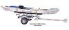 0  trailers malone roof rack on wheels crossbar style lowmax trailer - 78 inch crossbars detachable tongue 600 lbs