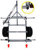 malone trailers roof rack on wheels crossbar style lowmax trailer - 78 inch crossbars detachable tongue 600 lbs