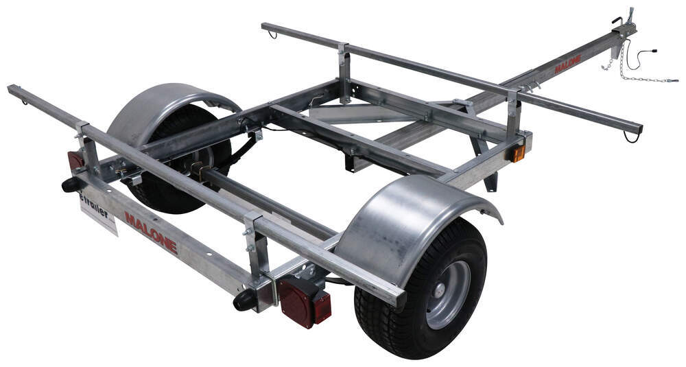 "Malone XtraLight LowMax Trailer - 78"" Crossbars - Detachable Tongue - 600 lbs Galvanized Steel MAL83FR"