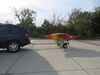0  trailers malone roof rack on wheels j-style ecolight sport trailer with carriers for 2 kayaks - 400 lbs