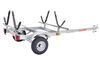 malone trailers roof rack on wheels extra long tongue ecolight sport trailer with j-style carriers for 2 kayaks - 400 lbs