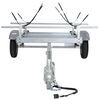 malone trailers roof rack on wheels 5w x 11l foot ecolight sport trailer with j-style carriers for 2 kayaks - 400 lbs