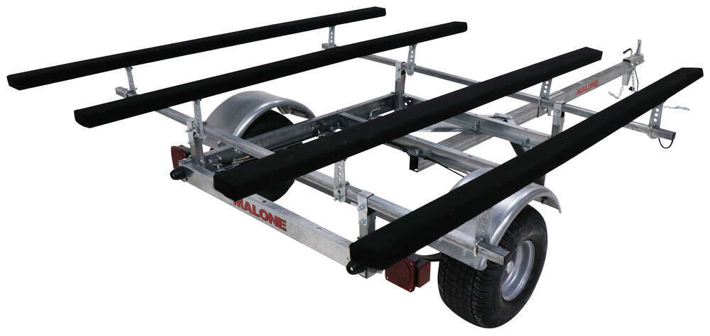 Malone LowMax XtraLight Trailer for 2 Heavy Kayaks - 7' Bunks - Detachable Tongue - 600 lbs 6-1/2W x 11L Foot MAL95FR