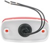 Optronics Trailer Clearance or Side Marker Light w/ Reflector - Incandescent - White Base - Red Lens Rectangle MC32RB