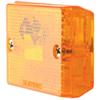 Square Trailer Clearance and Side Marker Light with Reflex Reflector - Amber Incandescent Light MC37AB