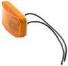 optronics trailer lights clearance non-submersible or side marker light w/ reflector - incandescent rectangle amber lens