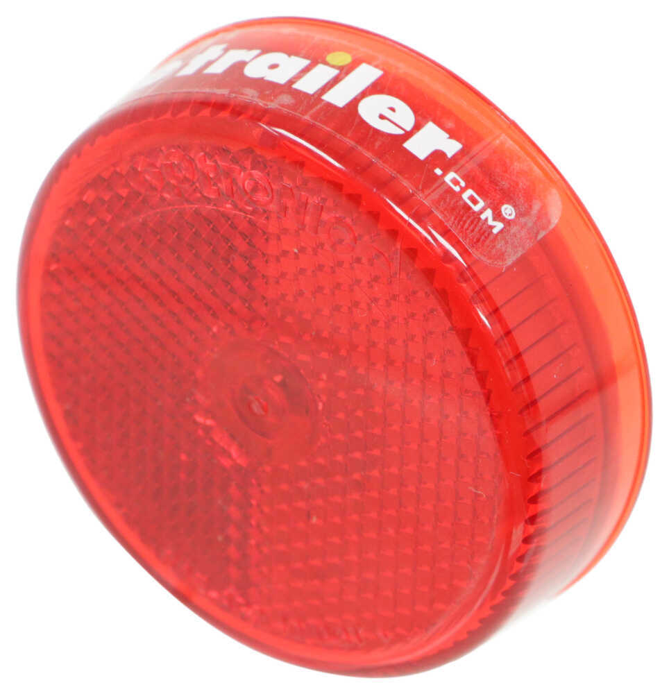 Optronics Trailer Clearance or Side Marker Light - Submersible - Incandescent - Round - Red Lens Rear Clearance,Side Marker MC57RB