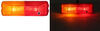 optronics trailer lights clearance 4l x 1w inch incandescent fender light - submersible 2 bulbs red/amber lens