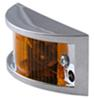 optronics trailer lights clearance non-submersible chrome plated side marker light - amber