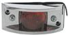 optronics trailer lights non-submersible 4l x 2w inch clearance or side marker light - chrome plated incandescent red lens