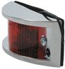 optronics trailer lights clearance non-submersible or side marker light - chrome plated incandescent red lens