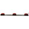 optronics trailer lights clearance submersible identification light bar for trailers over 80 inch wide - silver base red