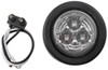 optronics trailer lights submersible 2 inch diameter led clearance or side marker light w/ grommet and pigtail - 3 diodes red