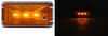 optronics trailer lights clearance 2-1/2l x 1w inch thinline mini led side marker or light w/ bracket - submersible 3 diodes amber lens