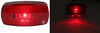 LED Clearance or Side Marker Trailer Light w/ Reflector - 1 Diode - Black Base - Red Lens Surface Mount MCL0032RBB