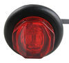Uni-Lite LED Clearance and Side Marker Light w Grommet - Submersible - 2 Diodes - Red Lens 1 Inch Diameter MCL11RKB