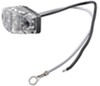 LED Mini Clearance or Side Marker Trailer Light - Submersible - 2 Diodes - Red LEDs - Clear Lens Red MCL13CR2B