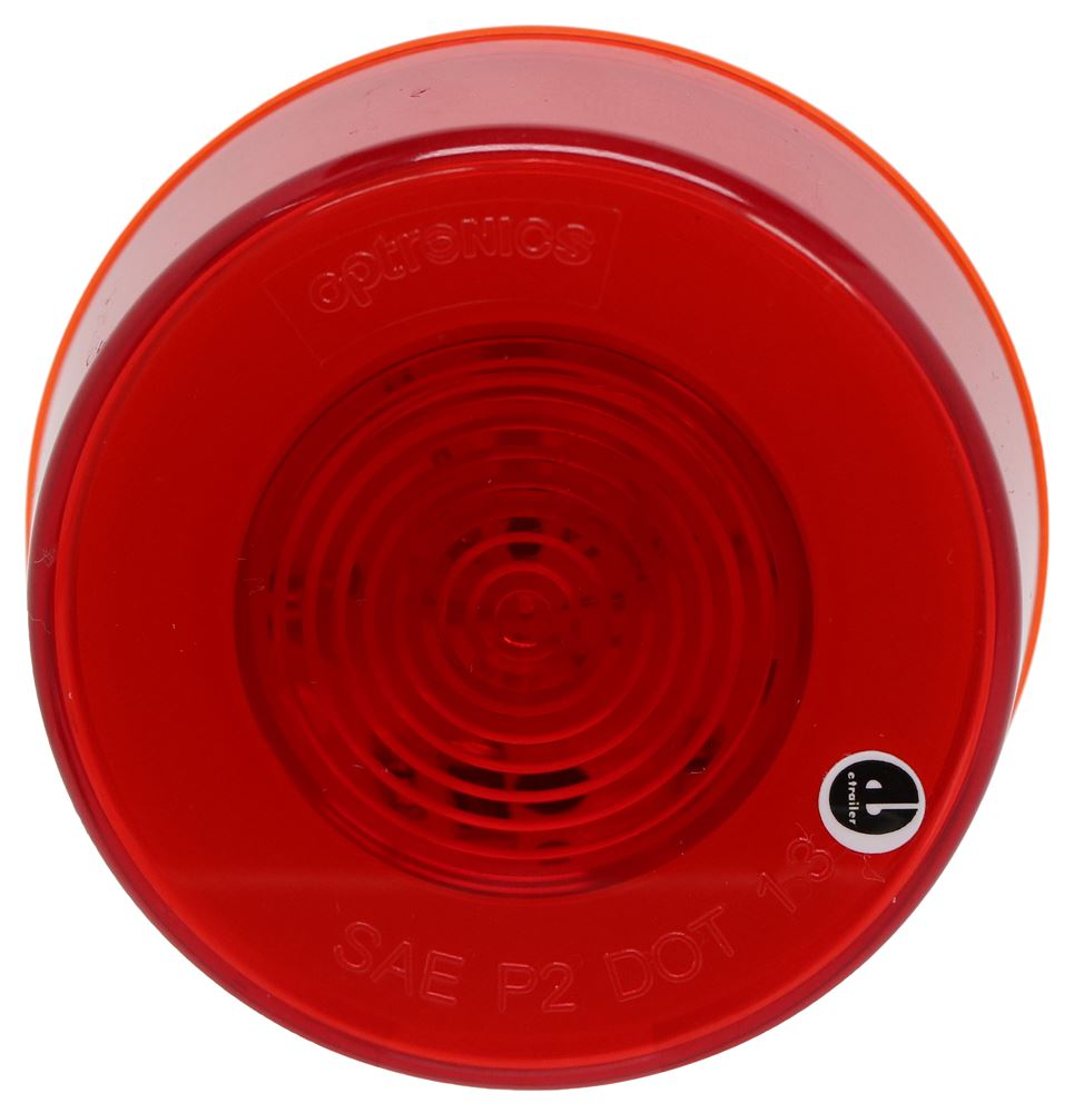 GloLight LED Trailer Clearance or Side Marker Light - Submersible - 9 Diodes - Round - Red Lens Round MCL157RB