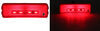 GloLight Thinline LED Trailer Clearance or Side Marker Light - Submersible - Rectangle - Red Lens Red MCL165RB