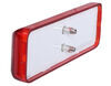 GloLight Thinline LED Trailer Clearance or Side Marker Light - Submersible - Rectangle - Red Lens 4L x 1W Inch MCL165RB
