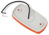 optronics trailer lights clearance 4l x 2w inch led or side marker light w/ reflex reflector- 3 diodes - white base amber lens