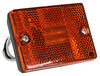 Optronics LED Clearance or Side Marker Light w/ Reflex Reflector - 6 Diodes - Square - Amber Lens Amber MCL36AB