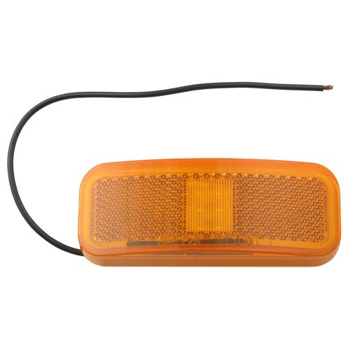Optronics LED Trailer Clearance and Side Marker Light w/ Reflex Reflector - 6 Diodes - Amber Lens 4L x 1-1/2W Inch MCL44AB1