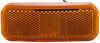 optronics trailer lights non-submersible 4l x 1-1/2w inch led clearance and side marker light w/ reflex reflector - 6 diodes amber lens