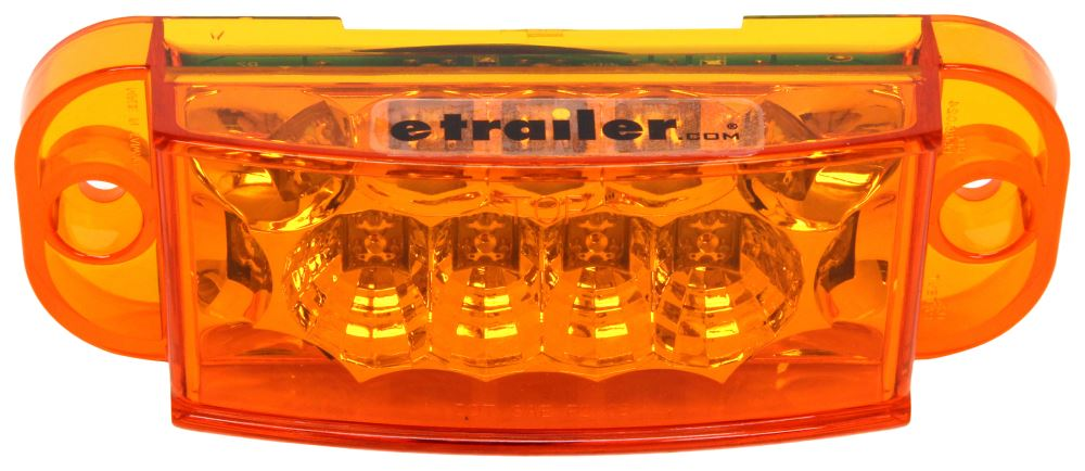 Miro-Flex LED Trailer Side Marker Light and Mid-Ship Turn Signal - Submersible - Amber Lens Rear Clearance,Side Marker MCL48AB