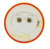LED Trailer Clearance or Side Marker Light - Submersible - 3 Diodes - Round - Amber Lens - 12V/24V LED Light MCL55A1224B