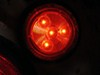 LED Trailer Clearance or Side Marker Light - Submersible - 3 Diodes - Round - Red Lens - 12V/24V Submersible Lights MCL55R1224B