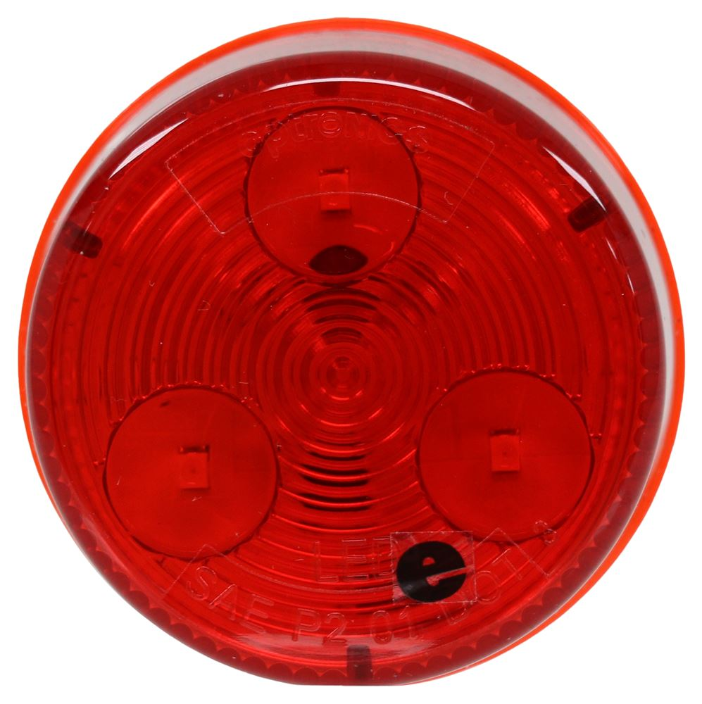 Optronics LED Trailer Clearance or Side Marker Light - Submersible - 3 Diodes - Round - Red Lens Submersible Lights MCL55RB