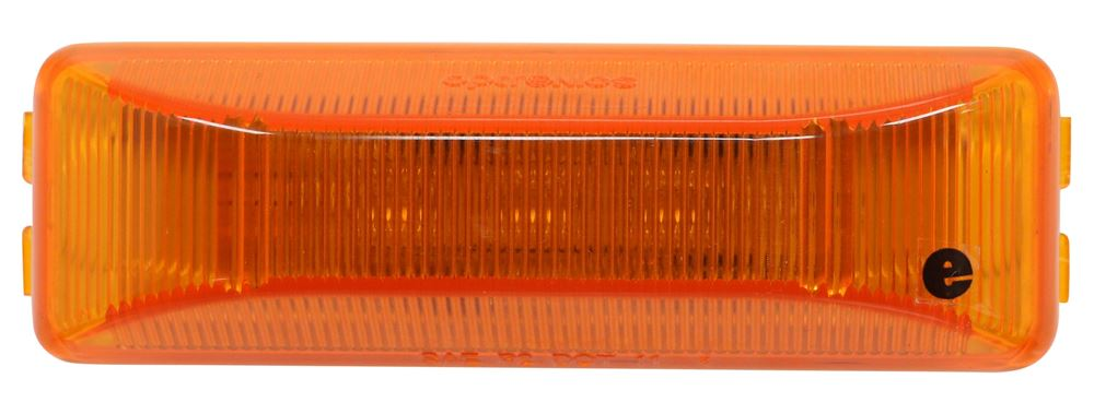Thinline LED Clearance or Side Marker Light - Submersible - 3 Diodes - Rectangle - Amber Lens - 24V 4L x 1W Inch MCL65A24B