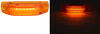 Optronics Thinline LED Trailer Clearance or Side Marker Light - Submersible - 6 Diodes - Amber Lens 4L x 7/8W Inch MCL66APG