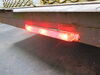 """UltraThin LED ID Light Bar for Trailers over 80"""" Wide - Submersible - 3 Diodes - Clear Lens Red MCL70RCB"""