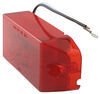 optronics trailer lights clearance submersible led or side marker light w/ reflector - 4 diode rectangle red lens