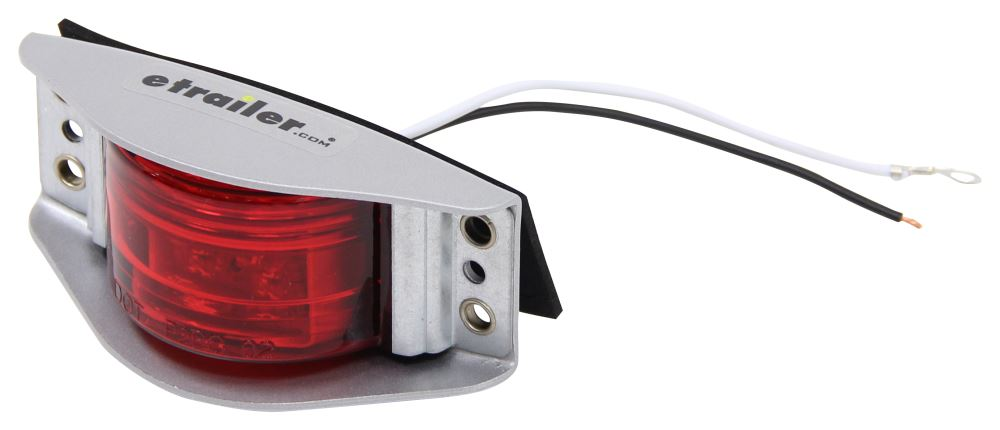Optronics Armored LED Clearance and Side Marker Light - 6 Diodes - Steel Housing - Red Lens Rectangle MCL86RB