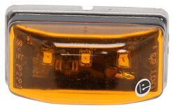 "Pack of 6 Meerkatt 2 Red 2.5/"" Inch Oval 2 Amber 2 White LED Multi-Voltage Bulbs Flush Mount Camper Truck Car Trailer Tow Jeep SUV Side Marker Fender Lights w//Chrome 10-30V DC Waterproof LM-CHS"