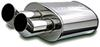 magnaflow performance mufflers 5 tall x 8 wide 24-1/2 long inch gas engine stainless steel straight-through universal muffler - street series polished finish