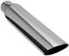 """MagnaFlow 3"""" Exhaust Tip - Stainless, Weld-On for 2-1/2"""" Tailpipe Angle Cut MF35138"""
