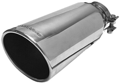 """MagnaFlow 5"""" Exhaust Tip - Stainless, Clamp-On for 3-1/2"""" Tailpipe 14-1/2 Inch Long MF35213"""