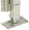 etrailer trailer jack side frame mount sidewind square w/ footplate - drop leg bolt on zinc 29-1/8 inch lift 2.5k